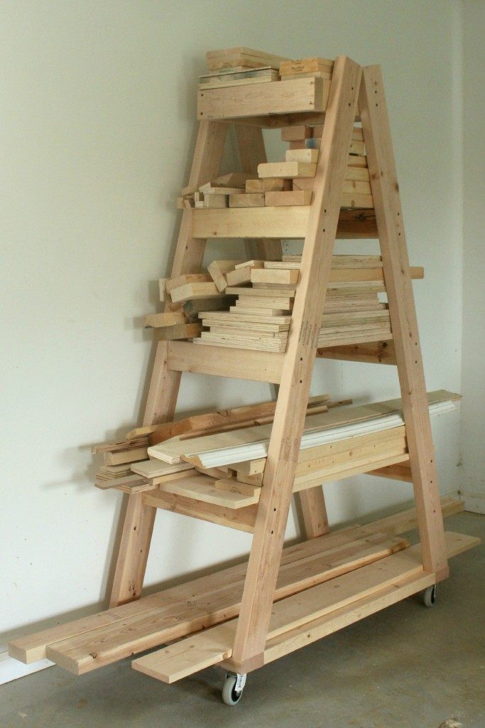 Do It Yourself Home Design: DIY Portable Lumber Rack
