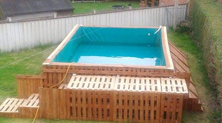 Home for Make a swimming pool out of pallets